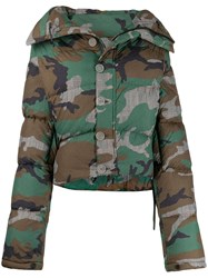 Unravel Project Camouflage Print Puffer Jacket 60