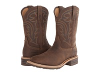 Ariat Hybrid Rancher Oily Distressed Brown Cowboy Boots Tan