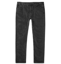 Helbers Slim Fit Stretch Cotton Corduroy Jeans Dark Gray