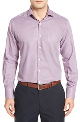 Peter Millar Men's 'Hyde' Regular Fit Micro Houndstooth Sport Shirt Redbreast
