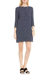 Vince Camuto Women's Two By Nautical Stripe Button Back Terry Dress