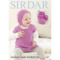 Sirdar Snuggly Baby Bamboo Dk Hat And Top Knitting Paper Pattern 4669