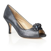 Lotus Quill Peep Toe Courts Graphite