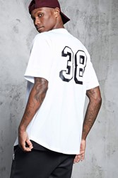 Forever 21 38 Baseball Jersey White Black
