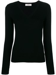 Pringle Of Scotland V Neck Fitted Sweater Black