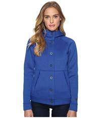 The North Face Neo Thermal Snap Hoodie Bright Cobalt Blue Black Heather Women's Sweatshirt