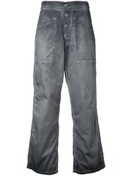 Rta Cropped Flared Jeans Women Cotton 25 Grey