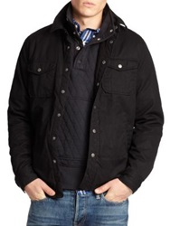 Jack Spade Coated Cotton Jacket Black
