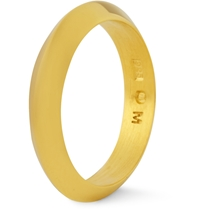 Acne Studios Gold Plated Sterling Silver Ring