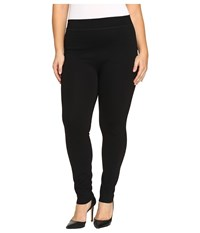 Hue Plus Size Double Knit Shaping Leggings Black Women's Casual Pants