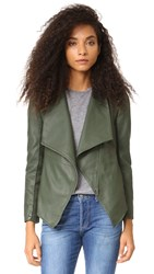 Bb Dakota Carmen Vegan Leather Jacket Army Green