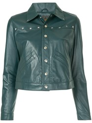 Hysteric Glamour Ram Leather Studded Jacket Green
