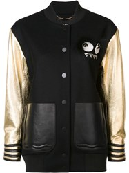 Fendi Bag Bugs Varsity Jacket Black