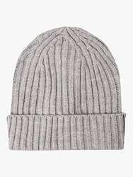 French Connection Knitted Beanie Light Grey