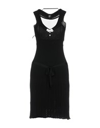 Tricot Chic Knee Length Dresses Black