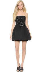 Notte By Marchesa Strapless Cocktail Dress Black Silver