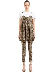 Vivetta Leopard Printed Dress And T Shirt White Leopard