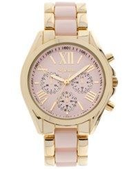 Styleandco. Style And Co. Women's Chronograph Two Tone Stainless Steel And Plastic Bracelet Watch 40Mm Sy005gpk Only At Macy's