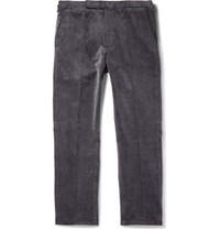 Ralph Lauren Purple Label Gregory Grey Stretch Cotton Corduroy Trousers Gray