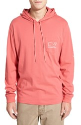 Vineyard Vines Men's Whale Graphic Long Sleeve Hooded T Shirt Jetty Red