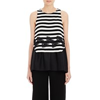 Thakoon Layered Tank Black Creme