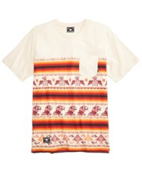 Lrg Men's Into The Wild Graphic Print T Shirt Natural