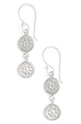 Women's Anna Beck Double Disc Drop Earrings Silver