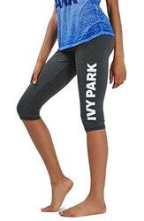 Ivy Park Women's Logo Capri Leggings Mid Grey Marl