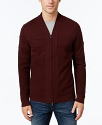 Alfani Full Zip Shawl Collar Cardigan Sweater Port Heather