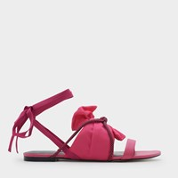 Charles And Keith Knot Details Sandals Fusia