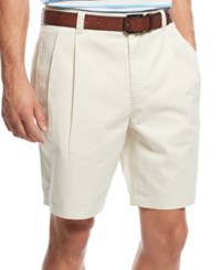 Club Room Men's Double Pleated Cotton Shorts Only At Macy's Sand Villa
