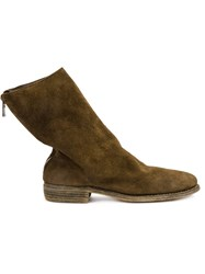 Guidi Zip Detail Ankle Boots Men Horse Leather 45 Brown