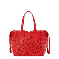 Sophia Webster Liara Red Butterfly Leather Tote