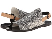 Elie Tahari Sunset Black White Natural Women's Sandals Multi