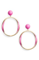 Kate Spade Women's New York Do The Twist Hoop Earrings Pink
