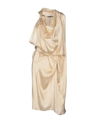 Andreaturchi Knee Length Dresses Beige