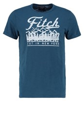 Abercrombie And Fitch Print Tshirt Blue Dark Blue