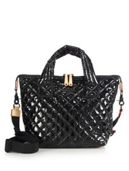 M Z Wallace Sutton Small Lacquered Quilted Nylon Tote