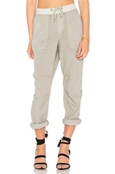 James Perse Twill Jogger Pant Gray