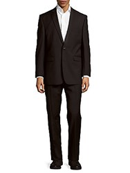 Vince Camuto Slim Fit Textured Wool Suit Black