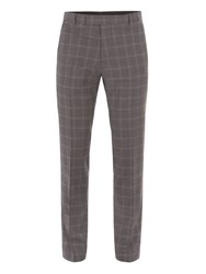 Alexandre Of England Men's Crosswall Grey Check Suit Trouser Grey