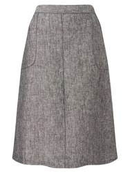 East Linen A Line Skirt Black