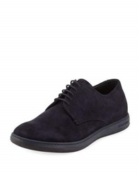 Giorgio Armani Perforated Suede Sport Derby Navy