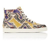 Christian Louboutin Men's Rantus Orlato Flat High Top Sneakers Yellow