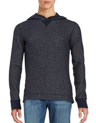 Hugo Boss Textured Lightweight Hoodie Dark Blue