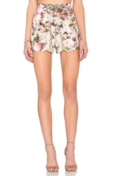 Lucca Couture Scallop Hem Short Red