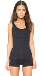 Yummie Tummie 3 Panel Tank Black