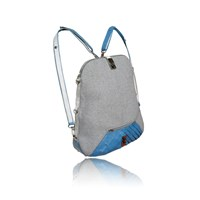 Tika Urbanita Wool And Leather Convertible Backpackblue