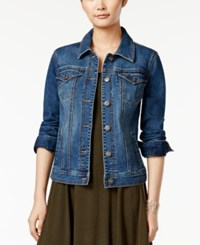 Styleandco. Style Co. Petite Mosaic Wash Denim Jacket Only At Macy's
