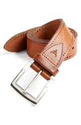 Men's Big And Tall Trask 'Cascade' Belt Saddle Tan